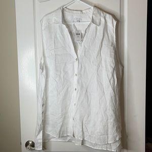 J. Jill Love Linen White Sleeveless Top 4X